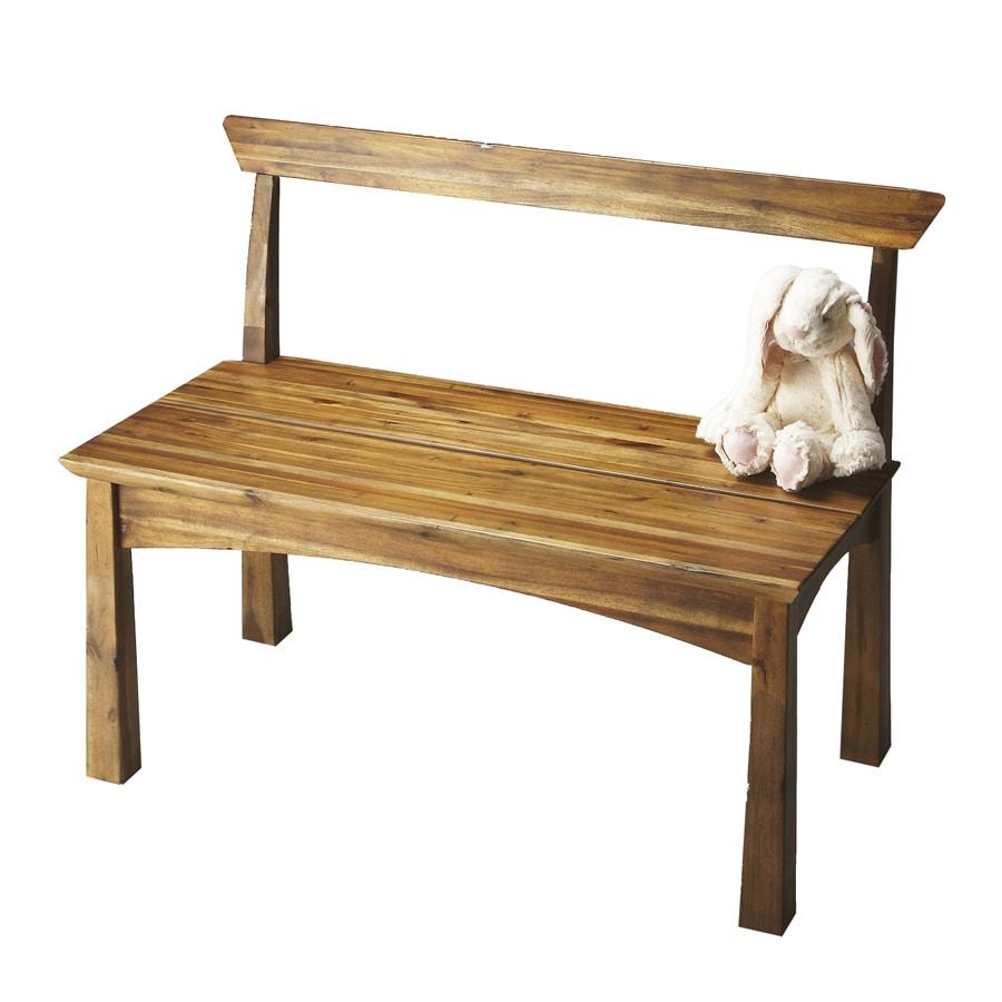 Butler Specialty Loft Natural Wood Indoor Entryway Bench