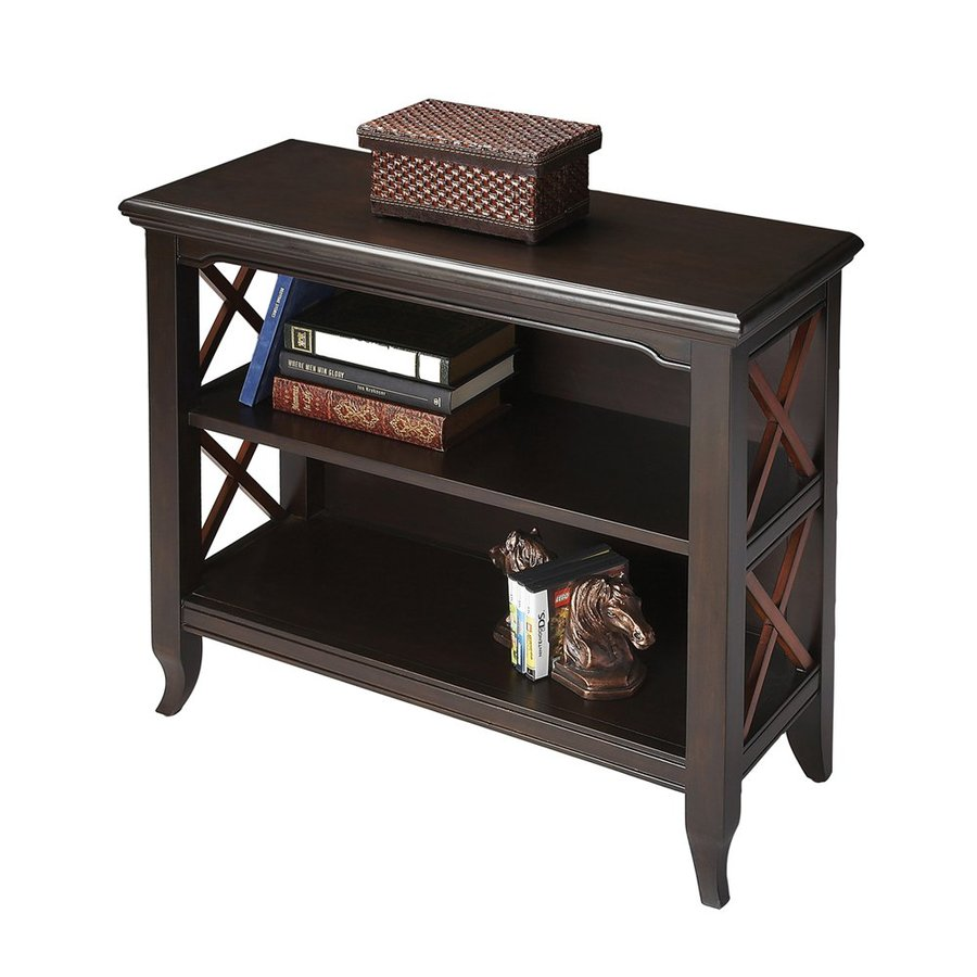 Butler Specialty Butler Loft Black and Cherry 2-Shelf Bookcase
