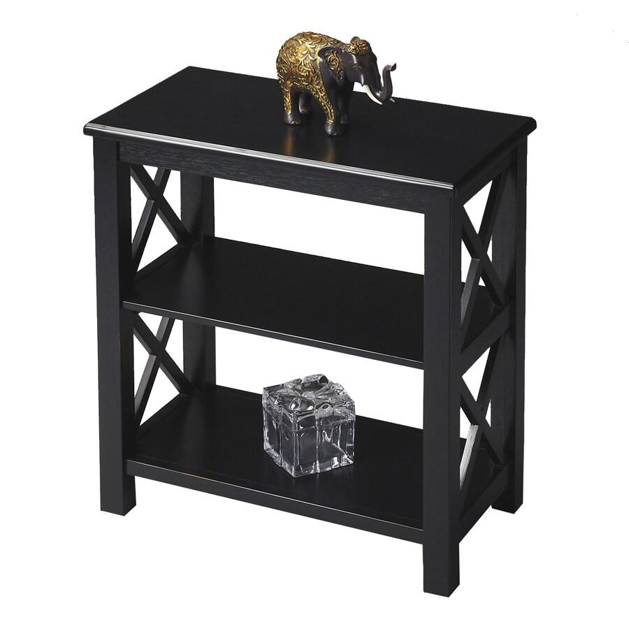 Butler Specialty Masterpiece Black Licorice 22-in W x 25-in H x 12-in D 2-Shelf Bookcase