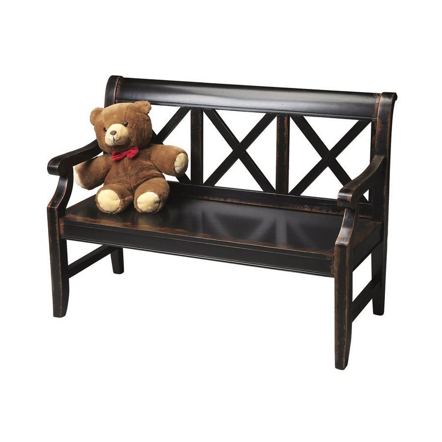 Butler Specialty Masterpiece Transitional Midnight Rose Accent Bench