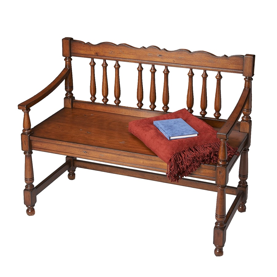 Shop Butler Specialty Old World Cherry Indoor Accent Bench