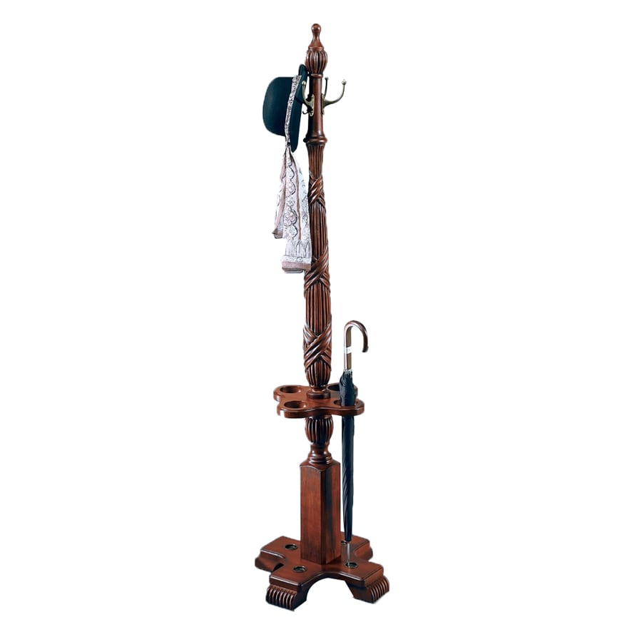 Butler Specialty Plantation Cherry 4-Hook Coat Stand