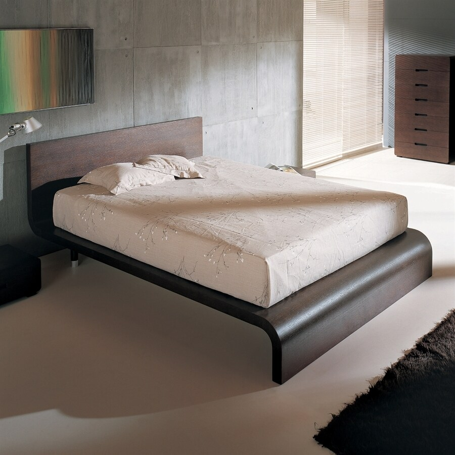 shop bh design cosmos wenge queen platform bed at lowes