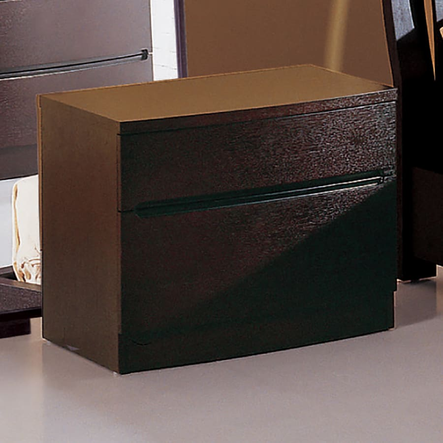 Beverly Hills Furniture Maya Espresso 2-Drawer Nightstand