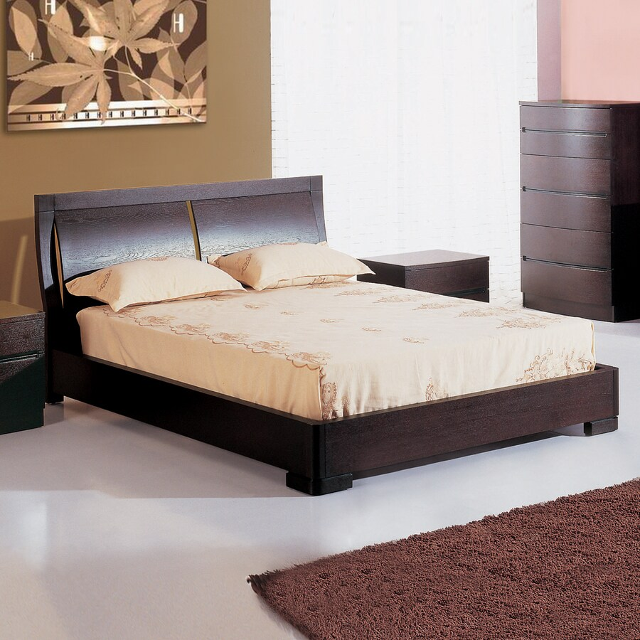 Beverly Hills Furniture Maya Espresso Queen Size Platform Bed
