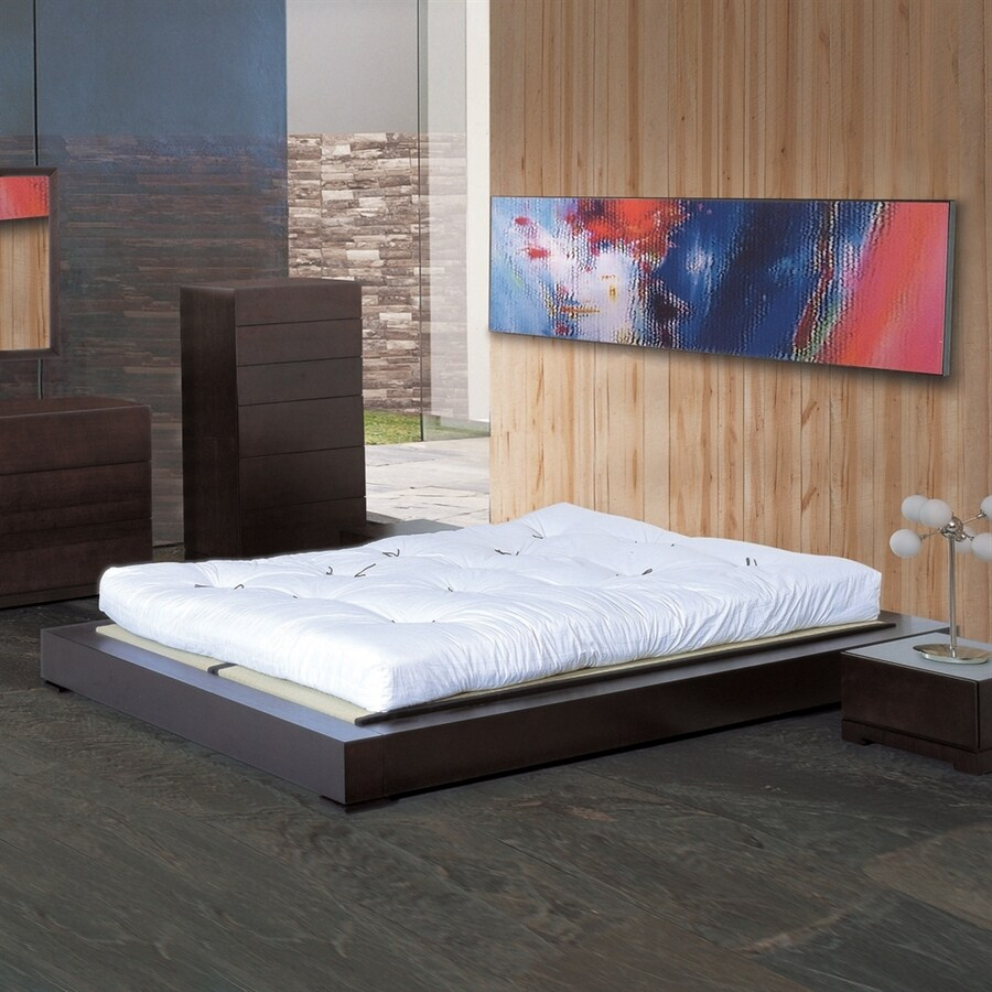 Beverly Hills Furniture Zen Espresso Queen Platform Bed