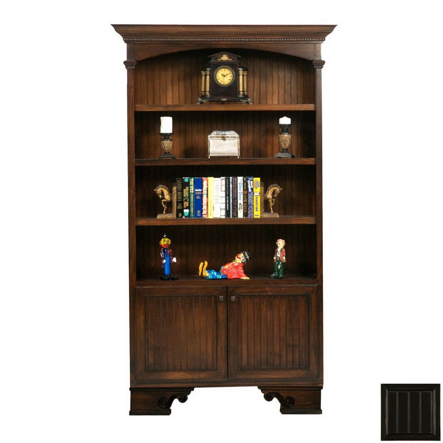 Eagle Industries American Premiere Antique Black 89.25-in 4-Shelf Bookcase