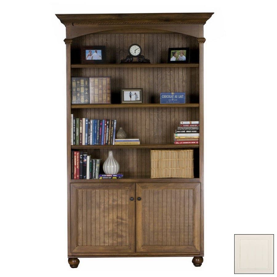 Eagle Industries American Premiere Bright White 76.75-in 3-Shelf Bookcase
