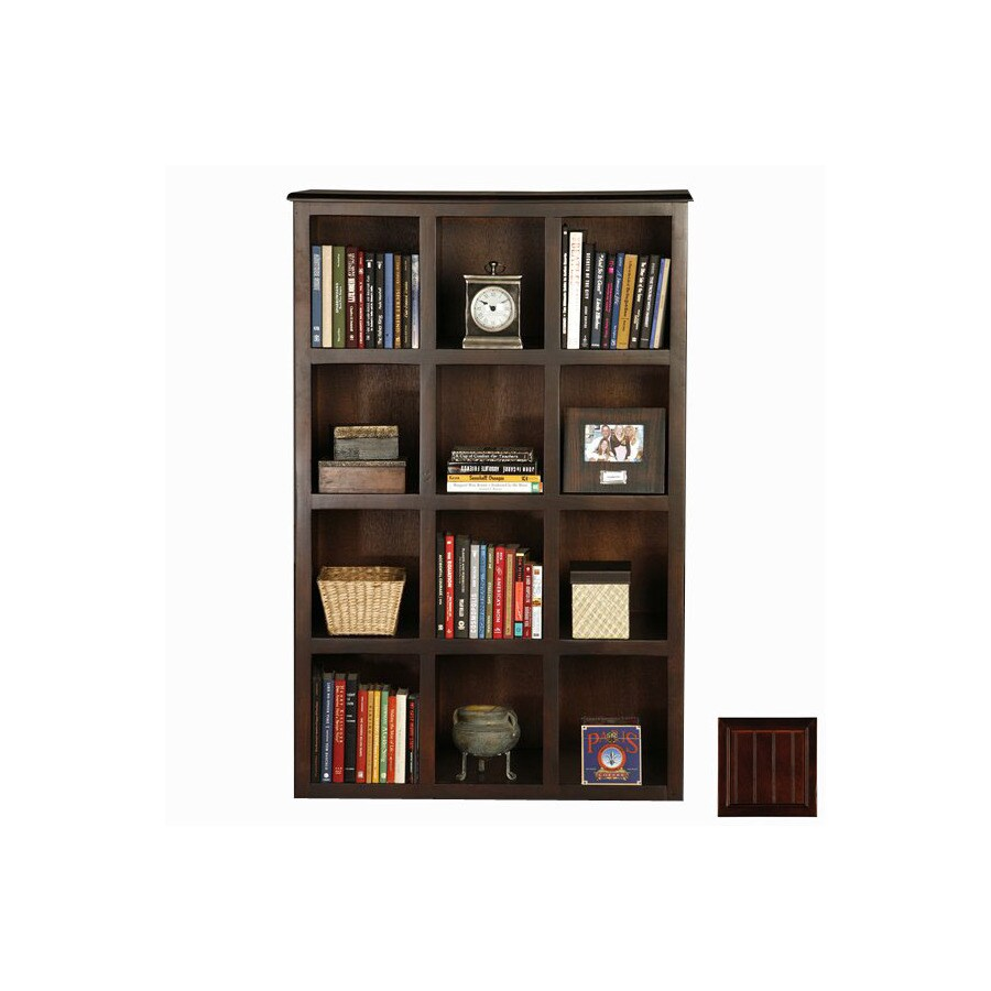 Eagle Industries Coastal Caribbean Rum 55.5-in 12-Shelf Bookcase