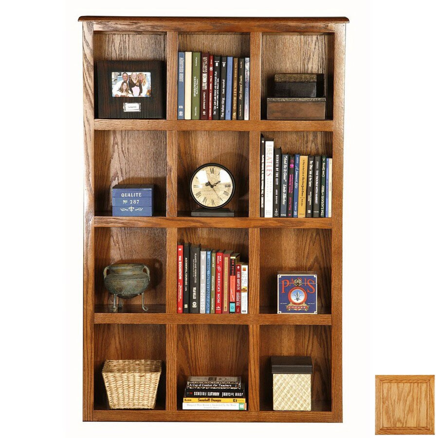 Eagle Industries Classic Oak Light Oak 55.5-in 12-Shelf Bookcase