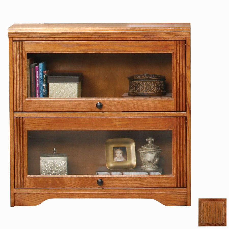 Eagle Industries Oak Ridge Dark Oak 32.25-in 2-Shelf Bookcase