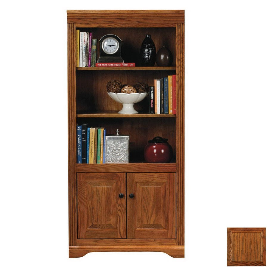 Eagle Industries Oak Ridge Dark Oak 60-in 2-Shelf Bookcase