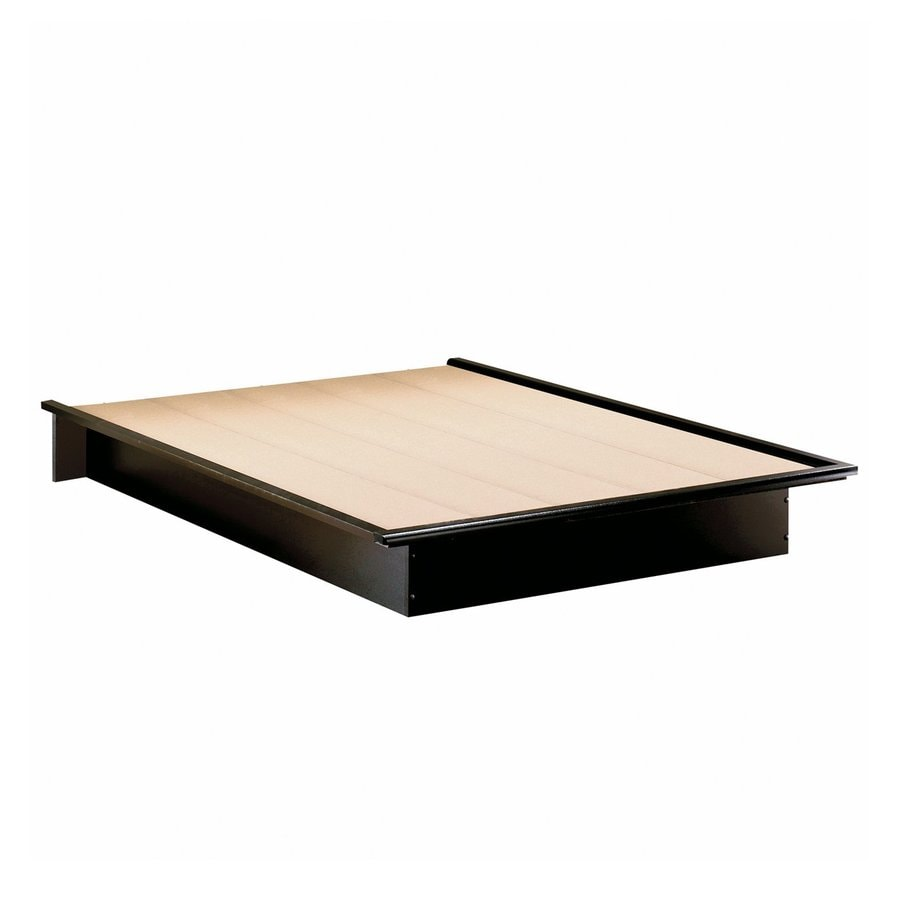 South Shore Furniture Step One Solid Black Full Platform Bed