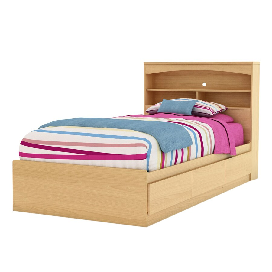 Natural Maple Bedroom Furniture Shop South Shore Furniture Step One Natural Maple Twin Platform