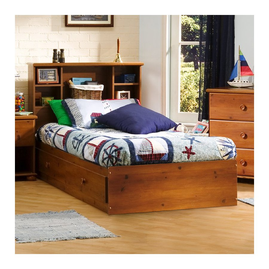 South Shore Furniture Sand Castle Sunny Pine Twin Platform Bed With Storage