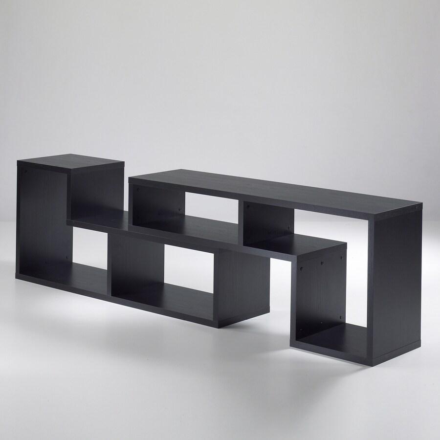 Tvilum Stewart Black Woodgrain 26-in 6-Shelf Bookcase