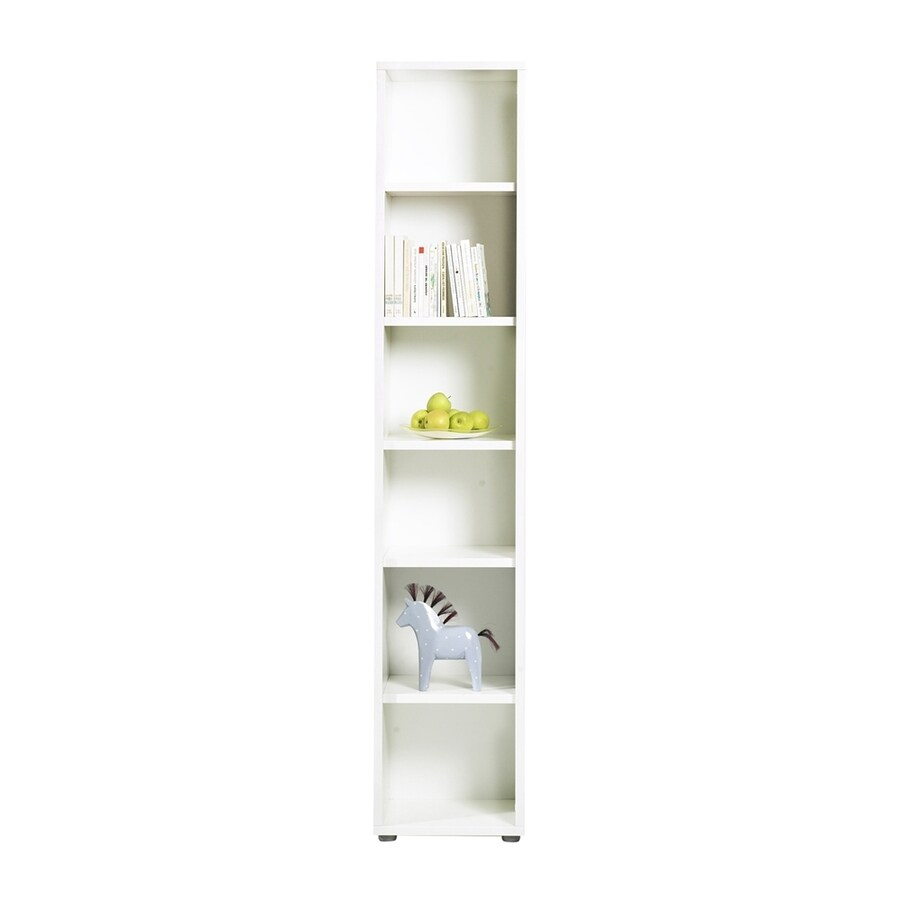 Shop Tvilum Fairfax White Wood 6 Shelf Bookcase At Lowes Com