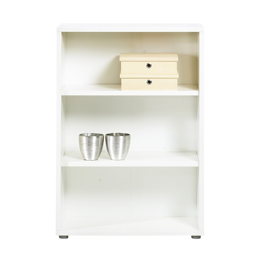 Tvilum Fairfax White 3-Shelf Bookcase