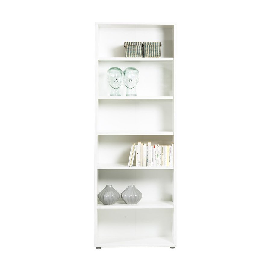 tvilum bocca white 5shelf bookcase