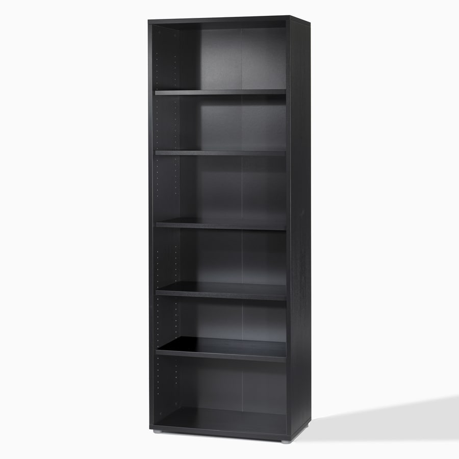 Tvilum Fairfax Black 87-1/4-in 5-Shelf Bookcase