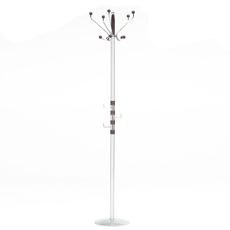 New Spec Coat Check Chrome 8-Hook Coat Stand