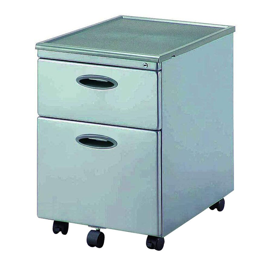 New Spec Silver 2 Drawer Filing Cabinet