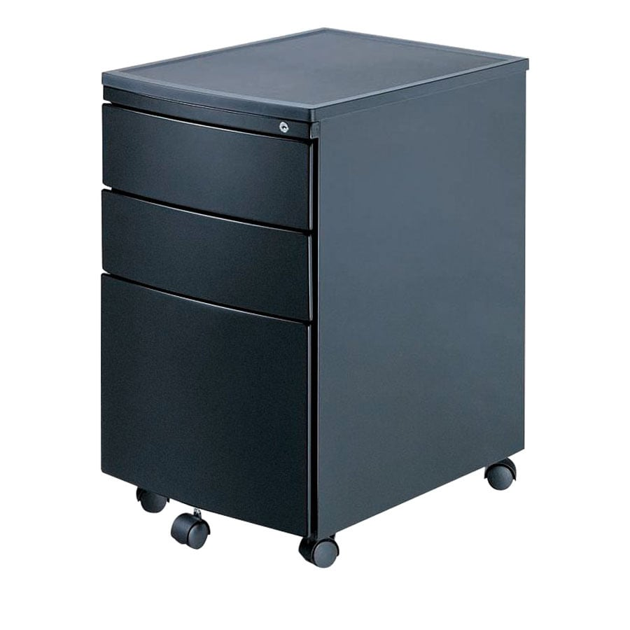 New Spec Black 3-Drawer File Cabinet