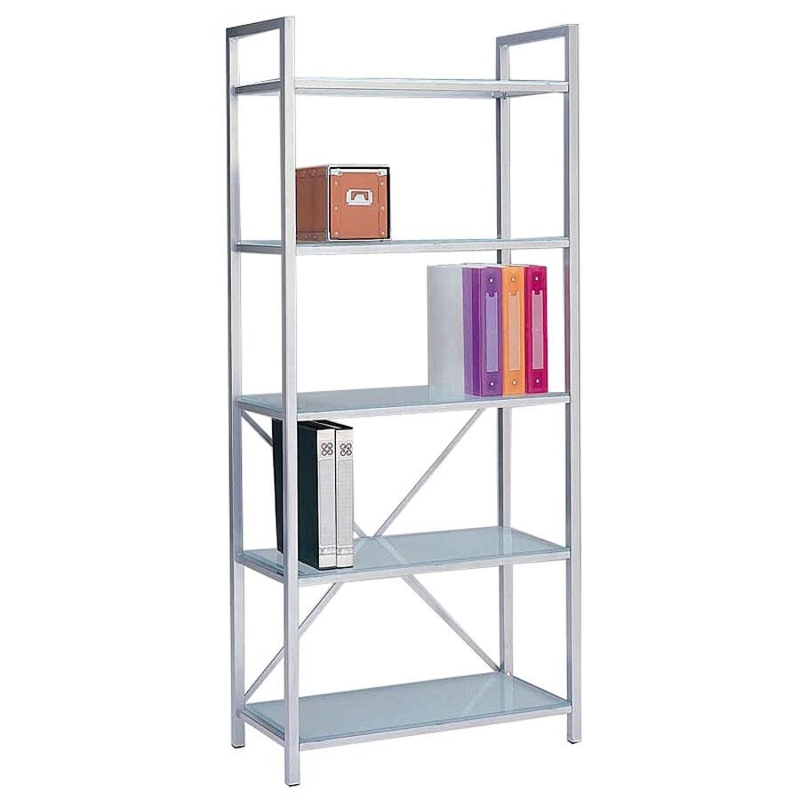 New Spec Silver 5-Shelf Bookcase