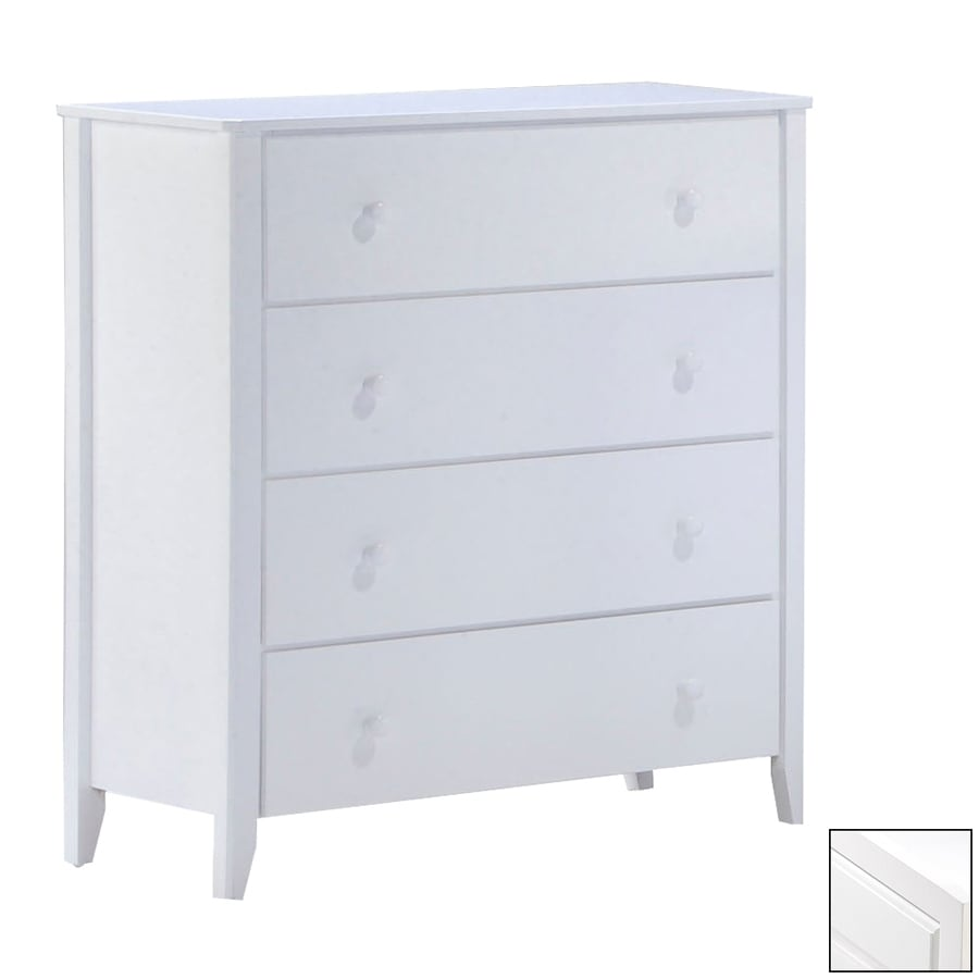 Night & Day Furniture Zest White 4-Drawer Chest