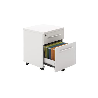 The Ergo Office White 2 Drawer File Cabinet At Lowes