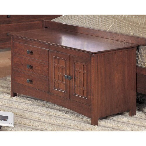 Somerton Home Furnishings Enchantment Natural Walnut Indoor Accent Bench With Storage In The Indoor Benches Department At Lowes Com