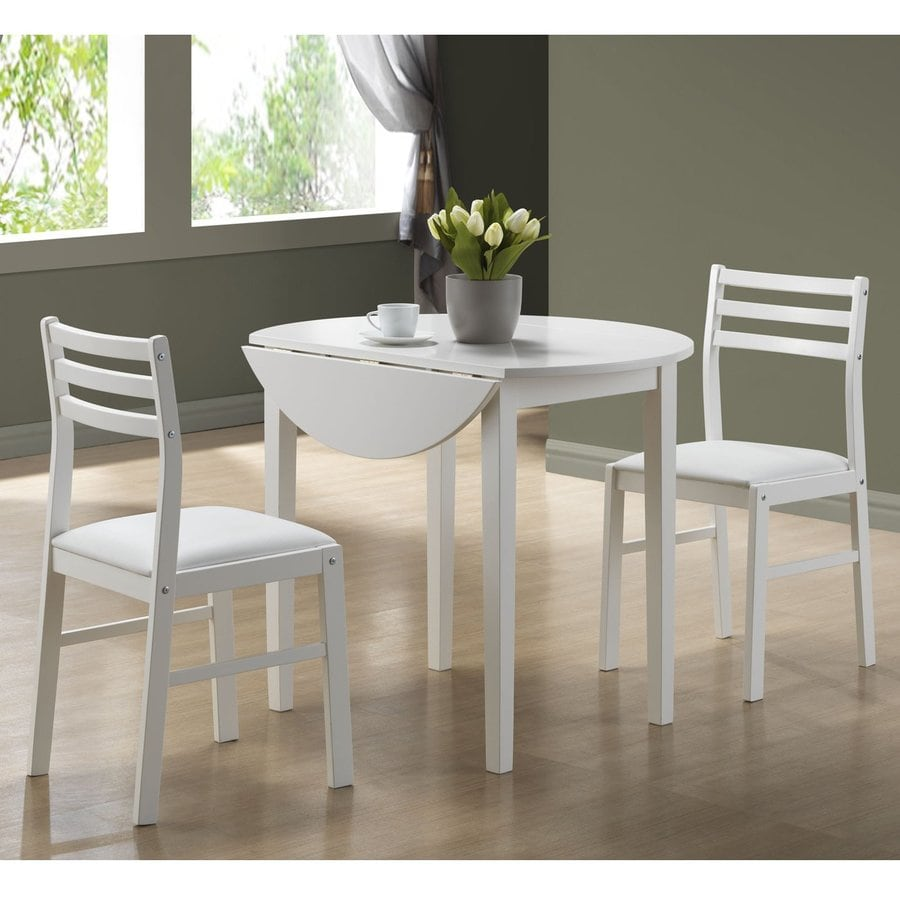 Monarch Specialties White Dining Set With Round Dining