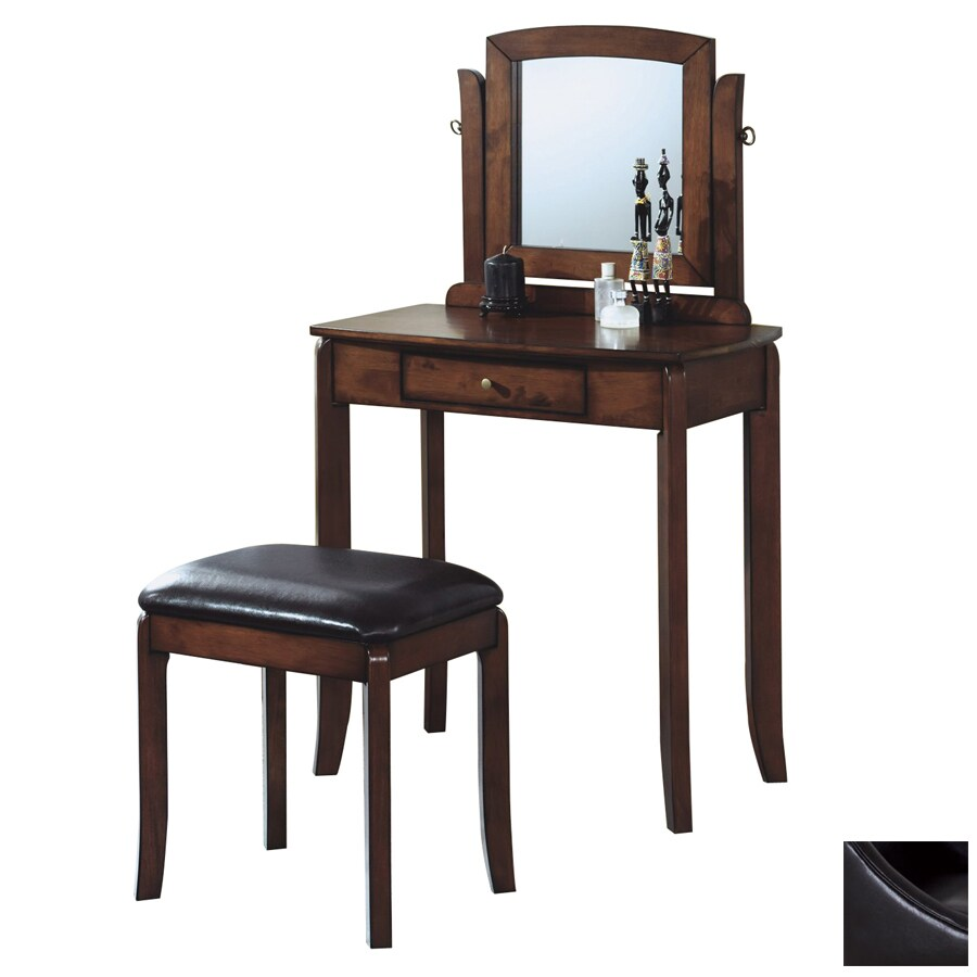Monarch Specialties Walnut Makeup Vanity