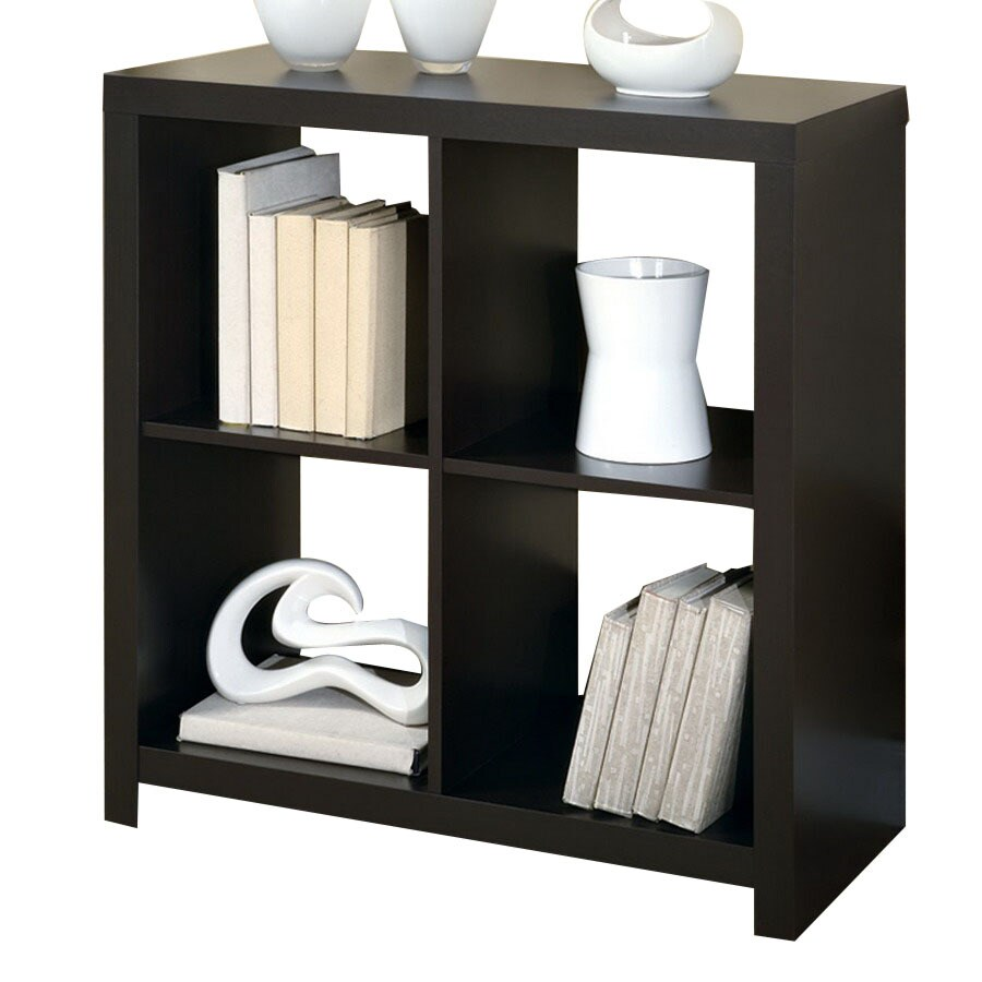 Monarch Specialties Cappuccino 31.5-in W x 33.5-in H x 15.75-in D 4-Shelf Bookcase