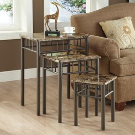 Charmant Monarch Specialties 3 Piece Cappuccino Accent Table Set