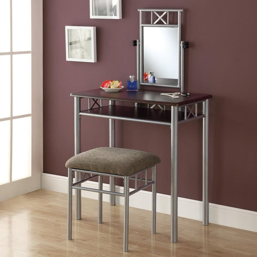 Monarch Specialties Cappuccino Makeup Vanity