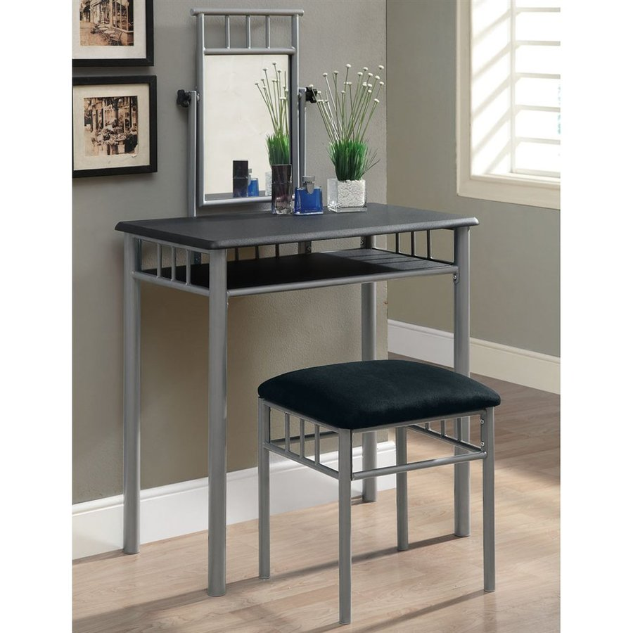 Monarch Specialties Black Makeup Vanity