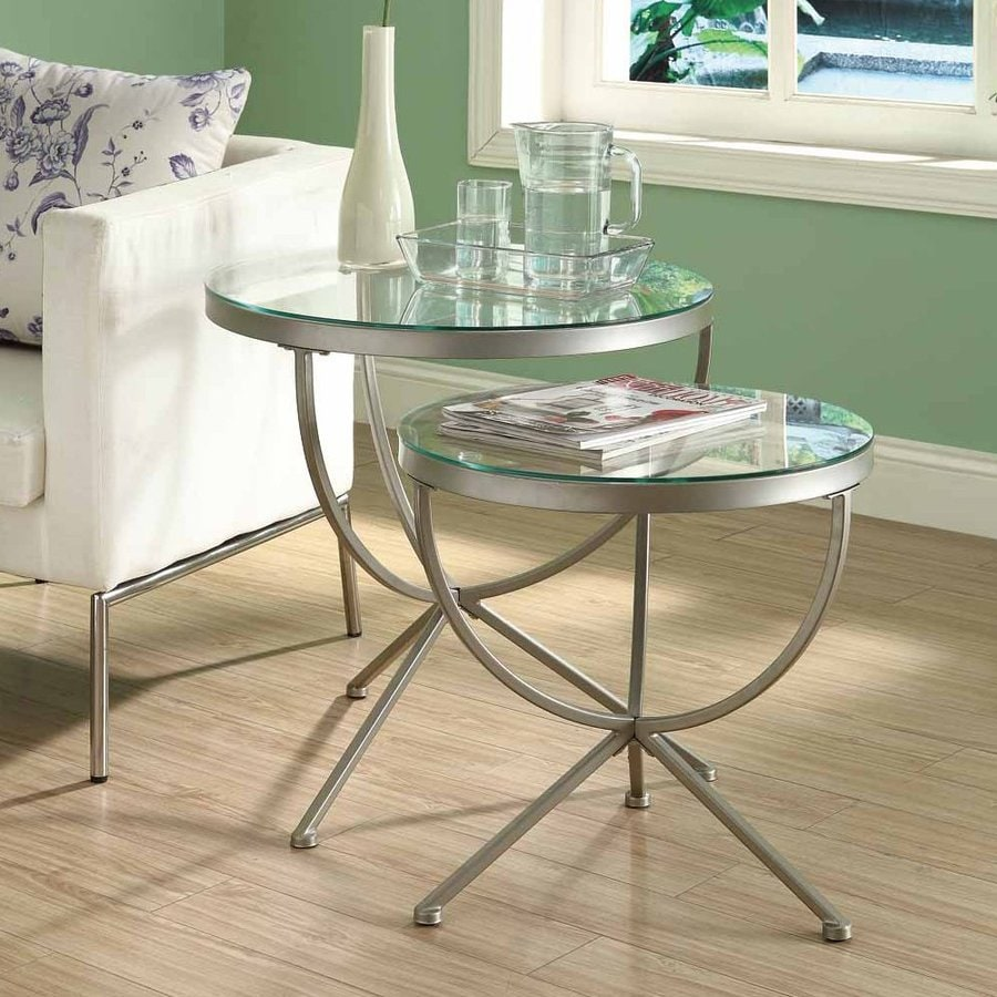 Monarch Specialties 2-Piece Accent Table Set