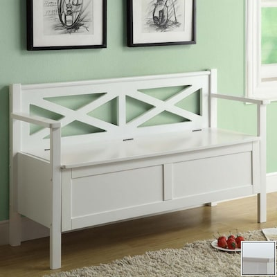 Swell Monarch Specialties White Indoor Entryway Bench At Lowes Com Ocoug Best Dining Table And Chair Ideas Images Ocougorg