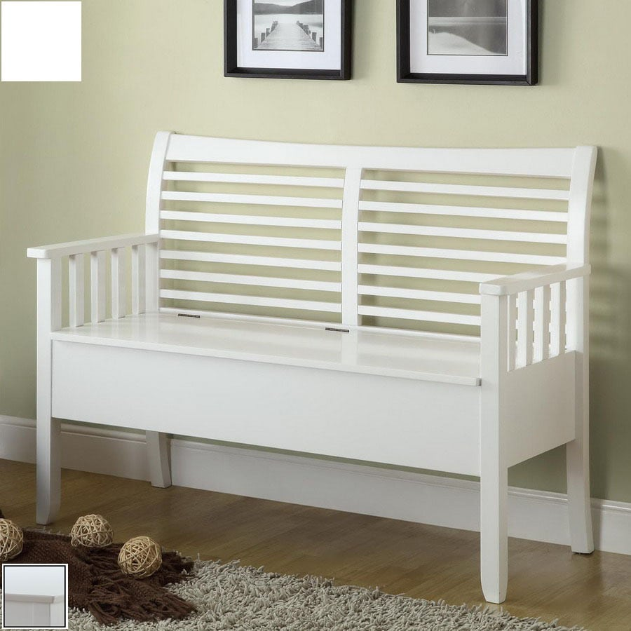 Monarch Specialties White Indoor Entryway Bench At Lowes Com