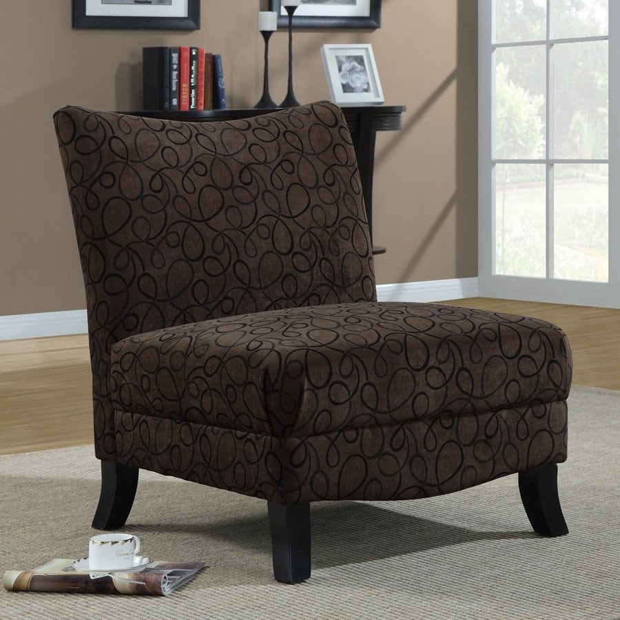 Monarch Specialties Brown Chenille Accent Chair