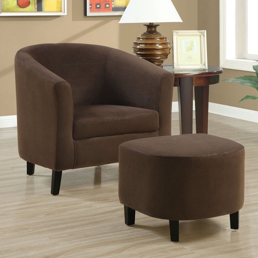 Monarch Specialties Brown Cotton Accent Chair