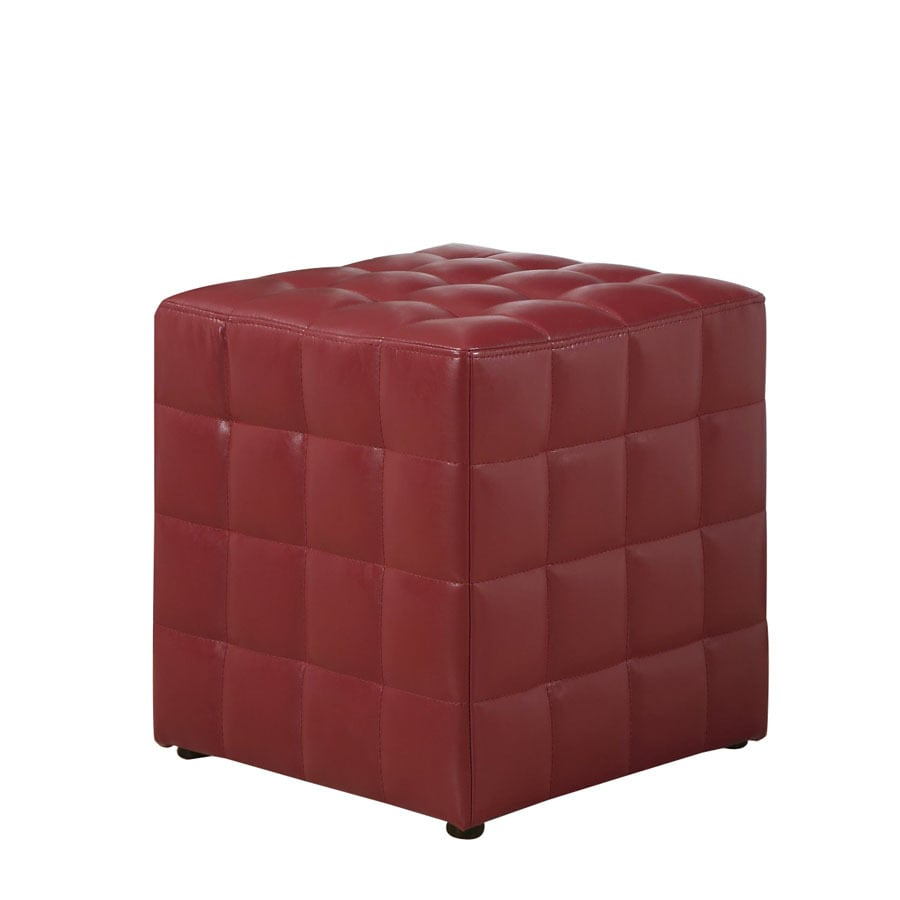 Monarch Specialties Red Square Ottoman