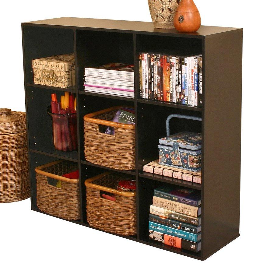 Rack-N-Cabinets Black 39-in W x 36-in H x 11.5-in D 9-Shelf Bookcase