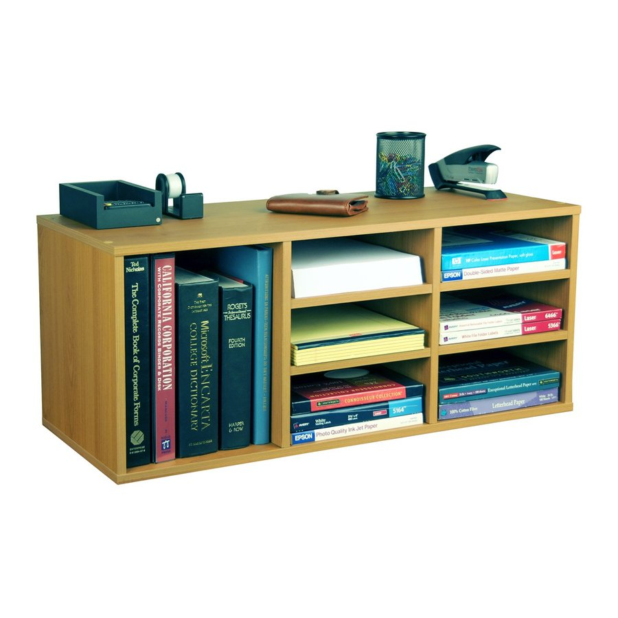 Rack-N-Cabinets Oak 31-in W x 13-in H x 12-in D 9-Shelf Bookcase