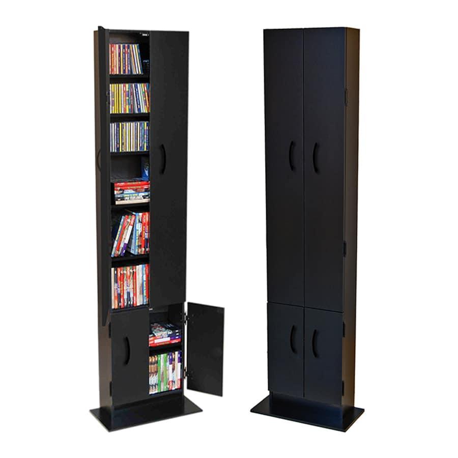 Venture Horizon Black Freestanding Media Cabinet