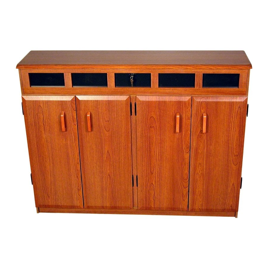 Venture Horizon Cherry Transitional Engineered Wood Media Cabinet