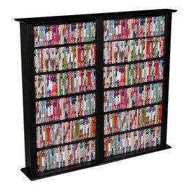 Venture Horizon Black Transitional Engineered Wood Media Cabinet