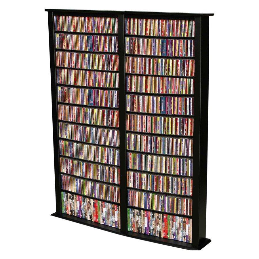Rack-N-Cabinets Black Freestanding Media Cabinet