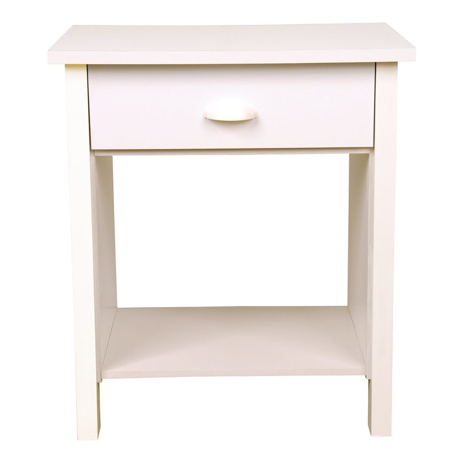 Rack-N-Cabinets Nouvelle White Nightstand